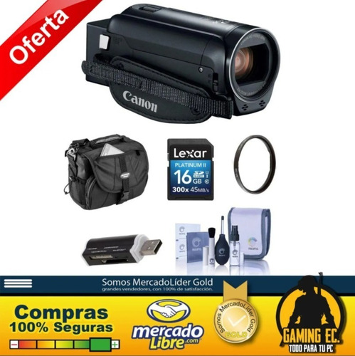 Kit Canon Vixia Hf R800 3.28mp Videocámara Full Hd Negra