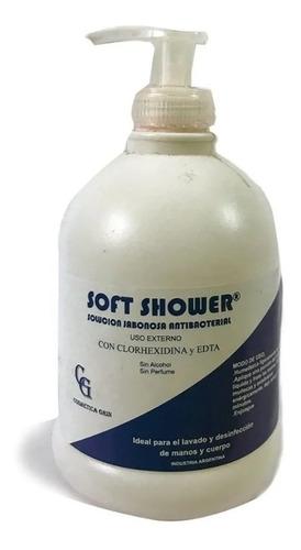 Imagen 1 de 5 de Jabon Anti Bacterial Con Clorhexidina Soft Shower X 500 Ml