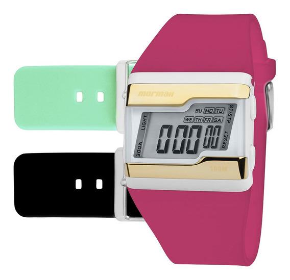 Relógio Digital Mormaii Troca Pulseira Dourado Fzv/t8q