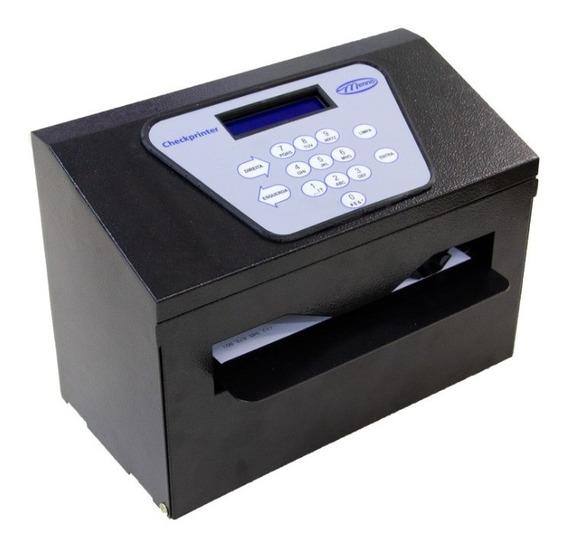 Impressora De Cheques Checkprinter Datacheck Preta Menno Parcelado S/juros Com Nota Fiscal E Garantia