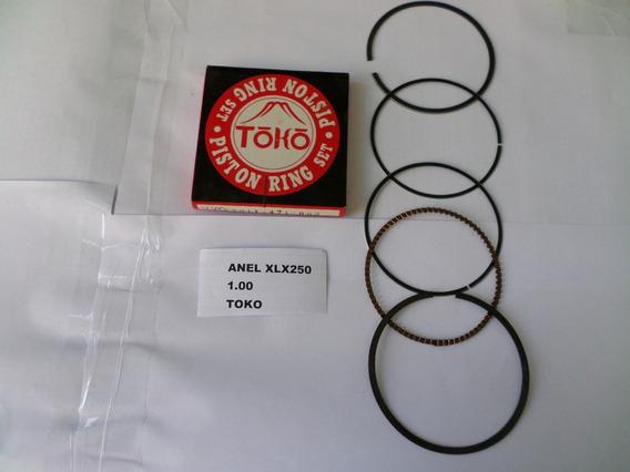 Anel De Pistao Honda Xlx250 1,00mm Toko -lote C/ 5 Peças - Jogo