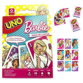 Uno Barbie Jogo De Cartas Brinquedo Baralho Meninas