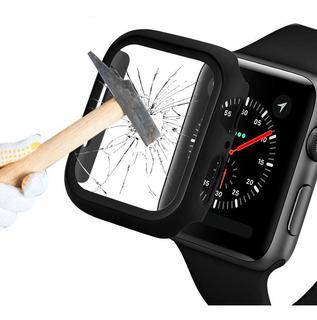 Capa Bumper Vidro Temperado Para Apple Watch Series 1/2/3/4 Tamanhos 38/40/42/44 Mm Antishock Lançamento