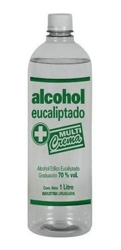 Alcohol Eucaliptado 70% 1 Lt Paquete X 5 Unidades ($99c/u)