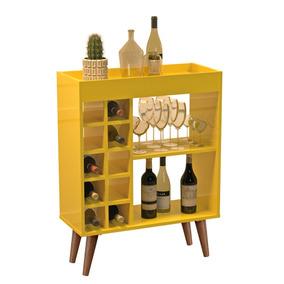 Aparador / Barzinho Para Sala Com Adega - Sonata - Amarelo