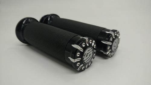 Puños Rsd Caucho Aluminio Para Harley Davidson Electronico