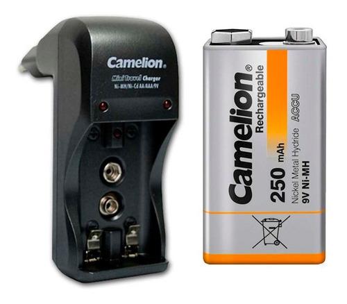 Cargador + 1 Bateria Camelion 9v De 250mah, Nuevo