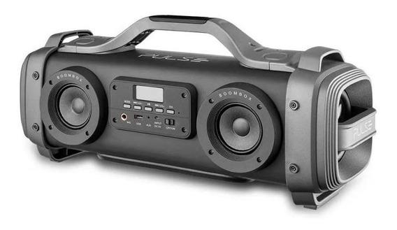 Caixa De Som Portátil Pulse Sp363 Mega Boombox 440w Rms Blu