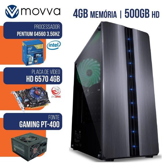 Computador Intel Pentium G4560 3.5ghz 7ª Ger Mem 4gb Hd 500g