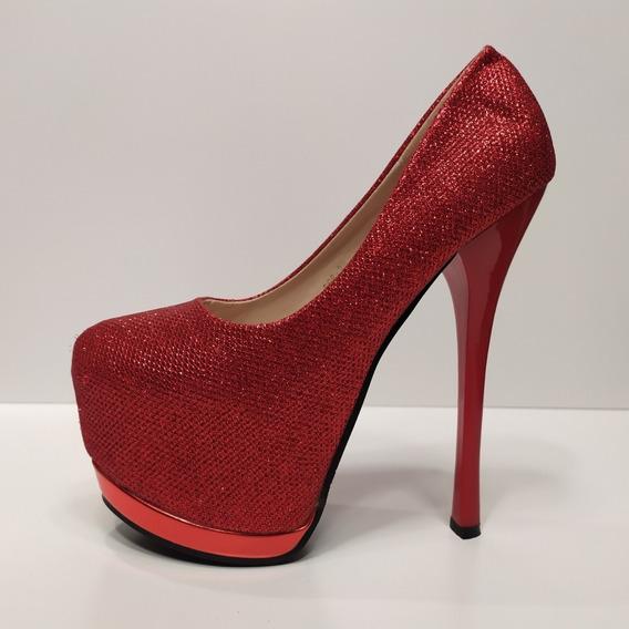 Zapato De Mujer Fiesta Taco Aguja De 16 Cm Talle 37