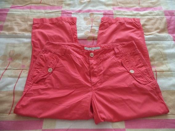 Pantalon Capri Salmon Tommy Hilfiger 100% Original Talla 10