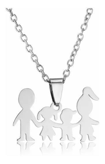 Colar Com Pingente Dia Das Mães Pais De Menino E Menina