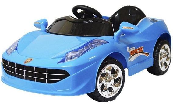 Mini Carro Elétrico Infantil Criança Bateria 6v Ferrari Azul
