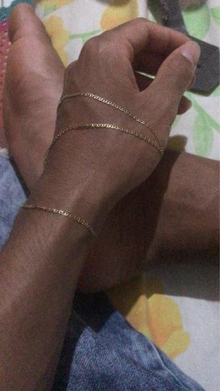Cordão De Ouro 18k Pesa 2,6 Grama.
