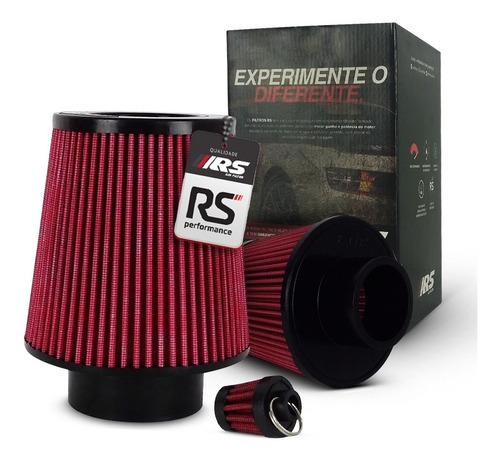 Filtro De Ar Esportivo Duplo Fluxo Rsp 3 X150mm Vermelho