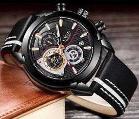 Relógio Masculino Lige 9863 Luxo Promoção 100% Funcional