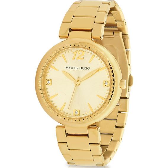 Relógio Victor Hugo Luxo Feminino - Vh10154lsg/06m