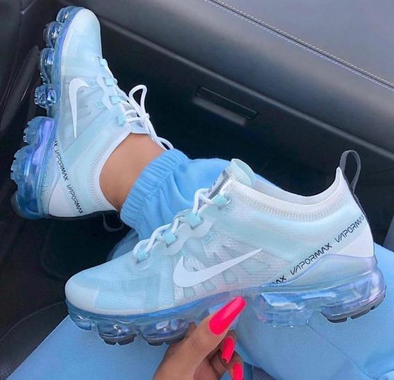 Zapatillas Nike Para Mujer 2019 Tenis Nike Azul en Mercado