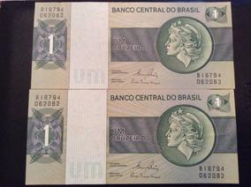Cédula De Um Cruzeiro - Fé - Sequência Numérica