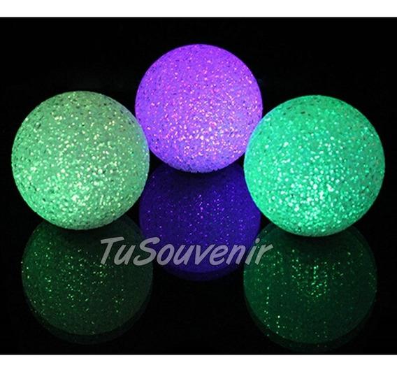 Centro De Mesa Esfera Bola Led Luminosa De 12 Cm Casamientos