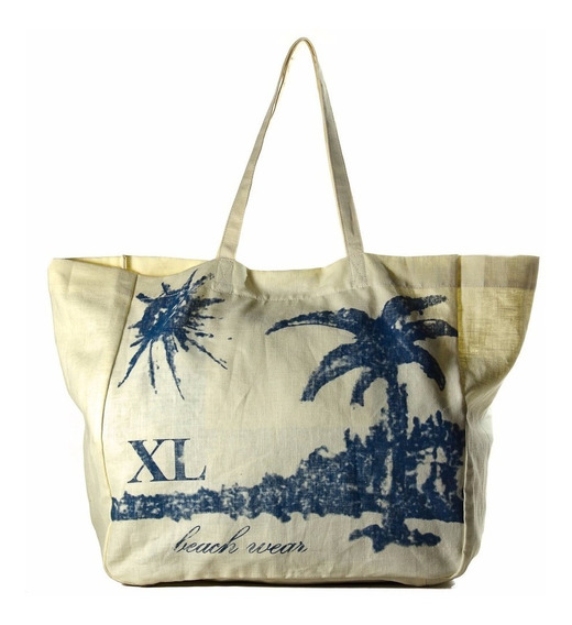 Tote Mujer Xl Extra Large Suple Hueso
