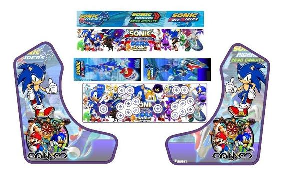 Arte Para Adesivos Weecade Sonic