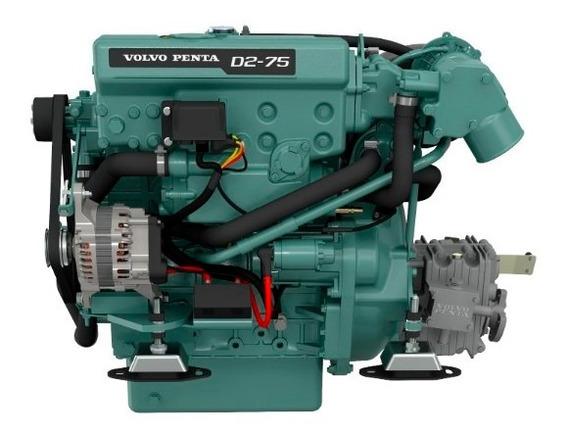 Motor Diesel Veleiro Volvo Penta D2 75hp Com Reversor