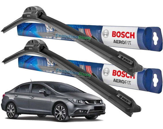 Limpador Para-brisa Bosch Honda Civic 2012 13 2014 2015 2016