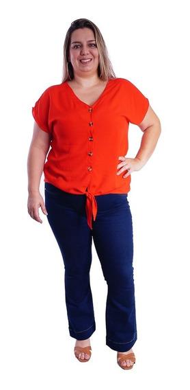 Blusa Camisa Camisete Social Plus Size Amarrar Grande #093
