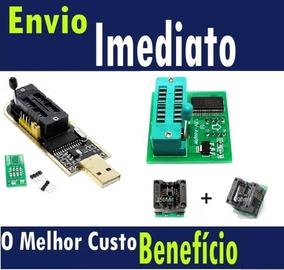 Kit Completo Gravador Eprom Ch341a Pro + 1.8v + Adaptadores