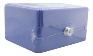 Caja Chica Metal Pequeña 150x120x 80mm Dinero Joyas 2 Llaves