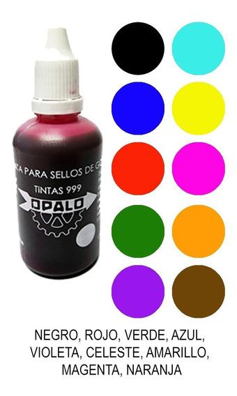 Tinta Para Sellos De Colores Multicolor Opalo 999 Sello 25cc