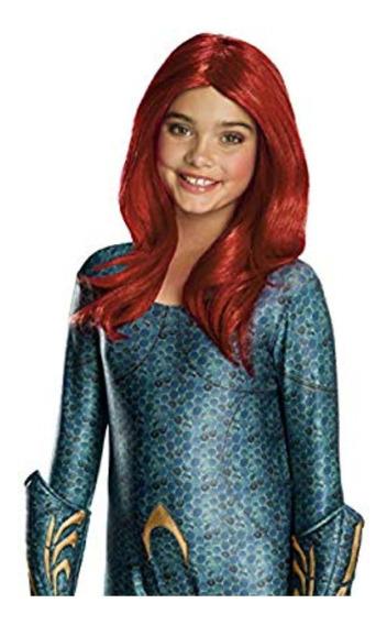Disfraz Niña Mera Aquaman Peluca