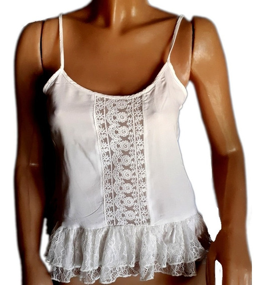 Musculosa, Forever21 ,broderie,puntillas Y Encaje....talle S