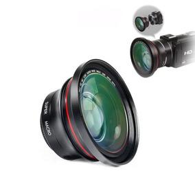 Lente Filmadora 2 Em 1 Macro Grande Angular 37mm Capuz Clip