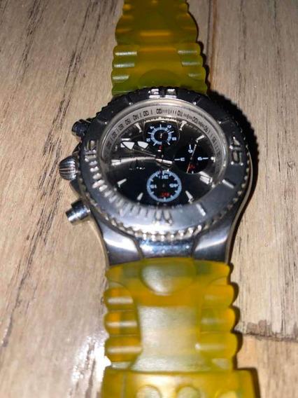 Reloj Pulsera Technomarine Plateado Con Banda Dorada