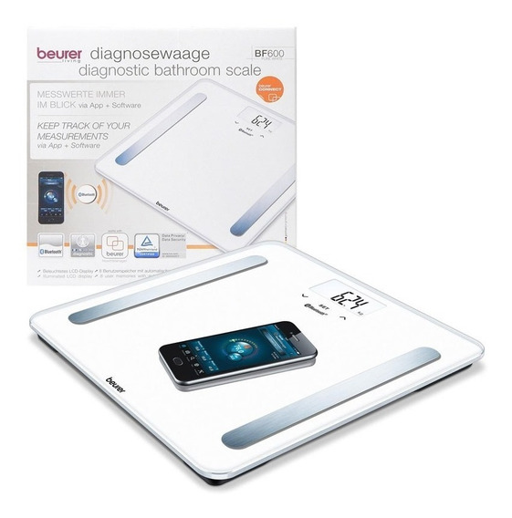 Beurer Bf 600 Pure White Balanza Digital Personal Bluethoot