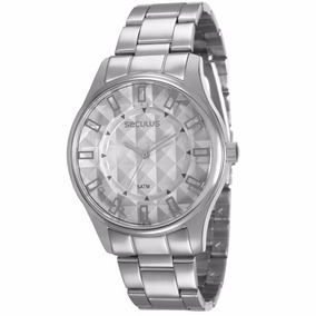 Relógio Seculus Masculino Analógico Prata - 28582losvns2