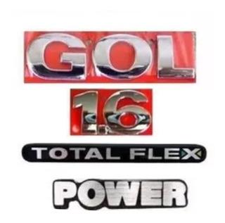 Kit Emblema Gol G3/g4 1.6 Totalflex Power 4 Peças