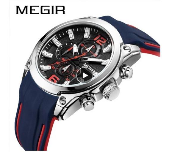 Relógio Masculino Top Esportivo Militar Megir