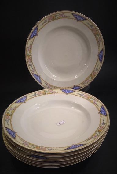 Conjunto 6 Pratos Fundos Em Porcelana Kpm 1050r Rrdeco