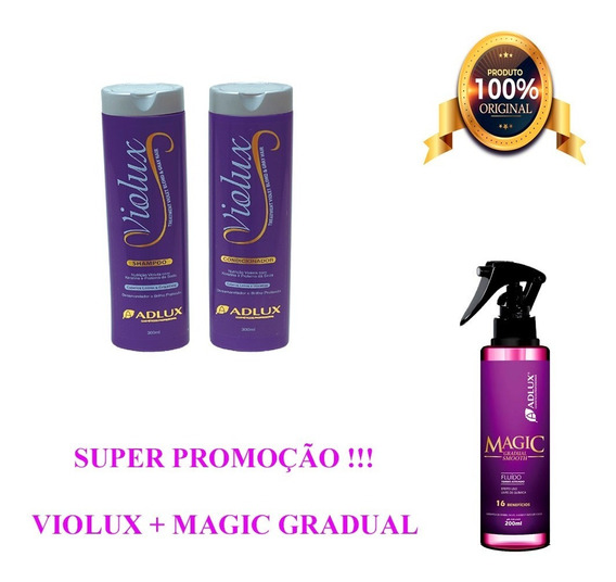 Kit Violux Adlux Loiros Blond + Magic Liso Magico = Loreal