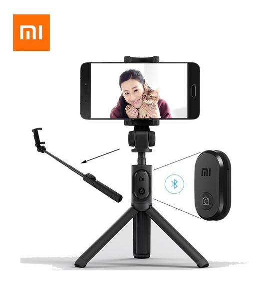 Tripé Bastão De Selfie Xiaomi Stick Controle Bluetooth Ios