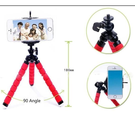 Tripé Flexível Para Celulares Ou Câmeras Fotografia Filmagem