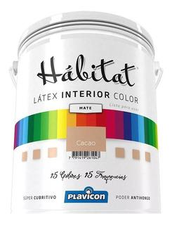 Latex Interior Habitat Color Premium Plavicon Lavable Antihongo X 4 Litros - Colores Ya Armados -