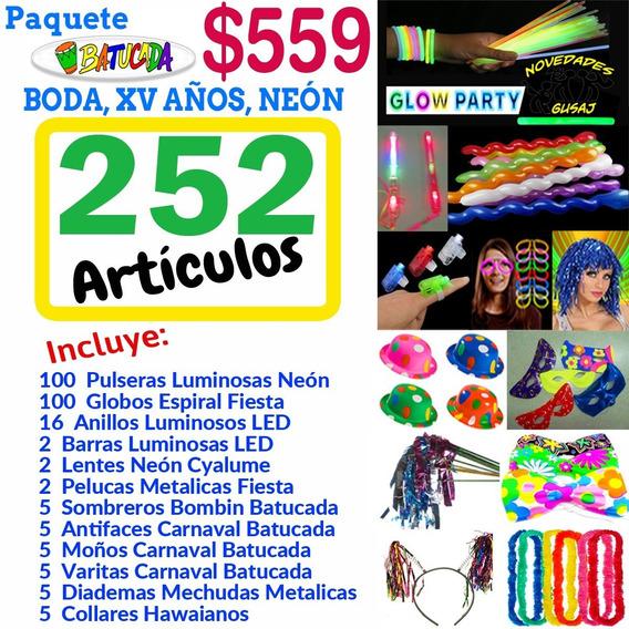 Paquete Batucada $559 Party Fiesta Boda Xv Neon Envio Gratis
