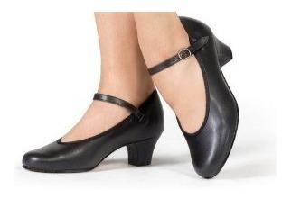 Sapato Dança De Salão Capezio Com Salto De 4 Cm (ref 30n)