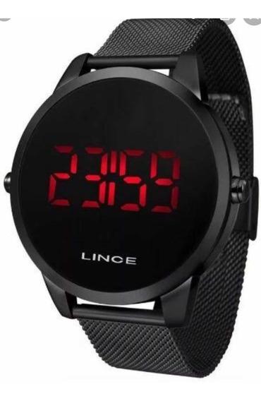 Relógio Lince Digital Mdn4586l Pxpx Aço Preto