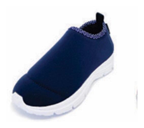 Zapatillas Diez Indiecitos Elastizadas Azul Marino