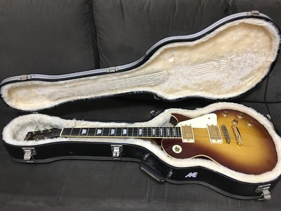 Guitarra Les Paul Vintage V100tsb Tobacco Sunburst Com Case